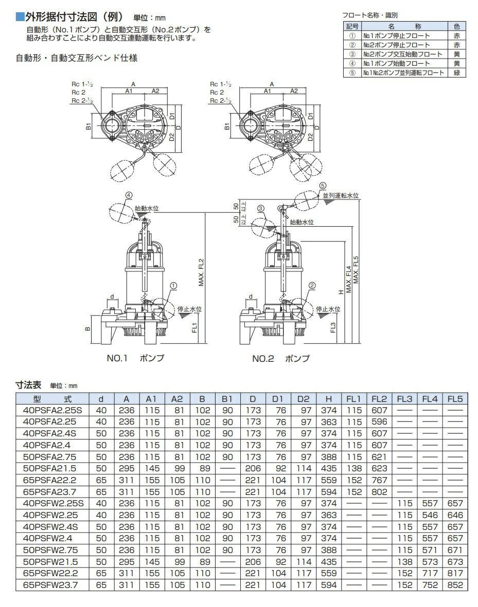 PSF型外形図