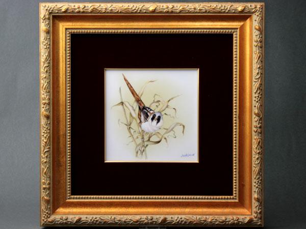 タイルタブロー(陶板画)  (SP633-8114)小鳥 スペシャルピース