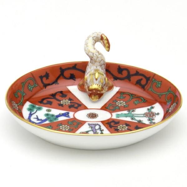 G(西安の赤・ゴドロー) (07781)楕円形ミニトレイ(ドルフィン飾り)カード立て