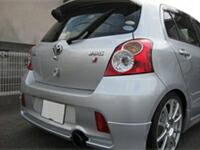 【普通のテールアウター チタンバージョン タイプA-B】【車種、形式】ヴィッツ90系RS 1.3 取付マフラー トヨタ純正 マフラーカッター付き