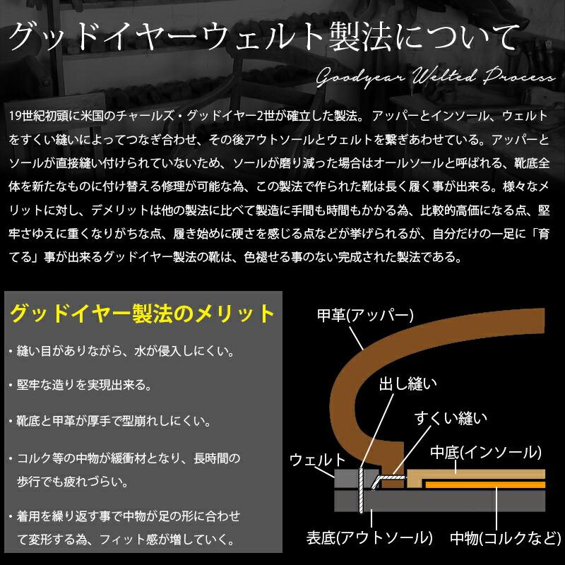 【DEDEsKEN】本革グッドイヤー製法ポストマンシューズ10594