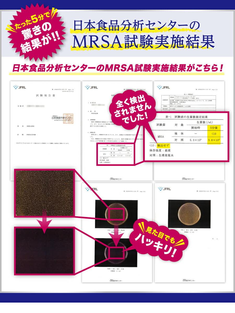 日本食品センターが認定した実験結果
