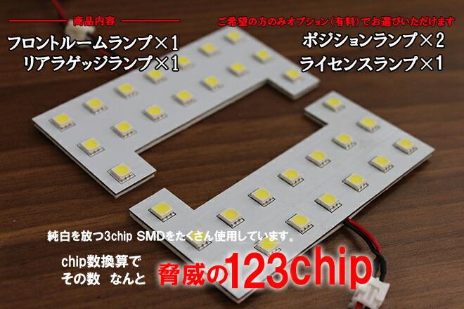 超激明 HONDA(ホンダ) N-ONE DBA-JG1/2、N-WGN DBA-JH1/2 LEDルームランプ2点セット!! 3chip SMD全使用 none n one nwgn nwagon-商品内容