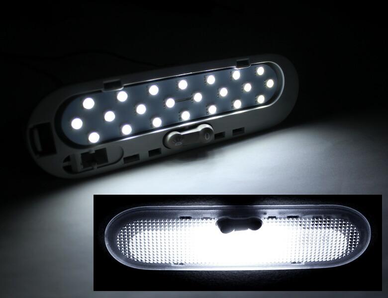 超激明 日産 マーチ(MARCH) K13 LED ルームランプセット 3chip SMD全使用 フロントルームランプ-点灯イメージ