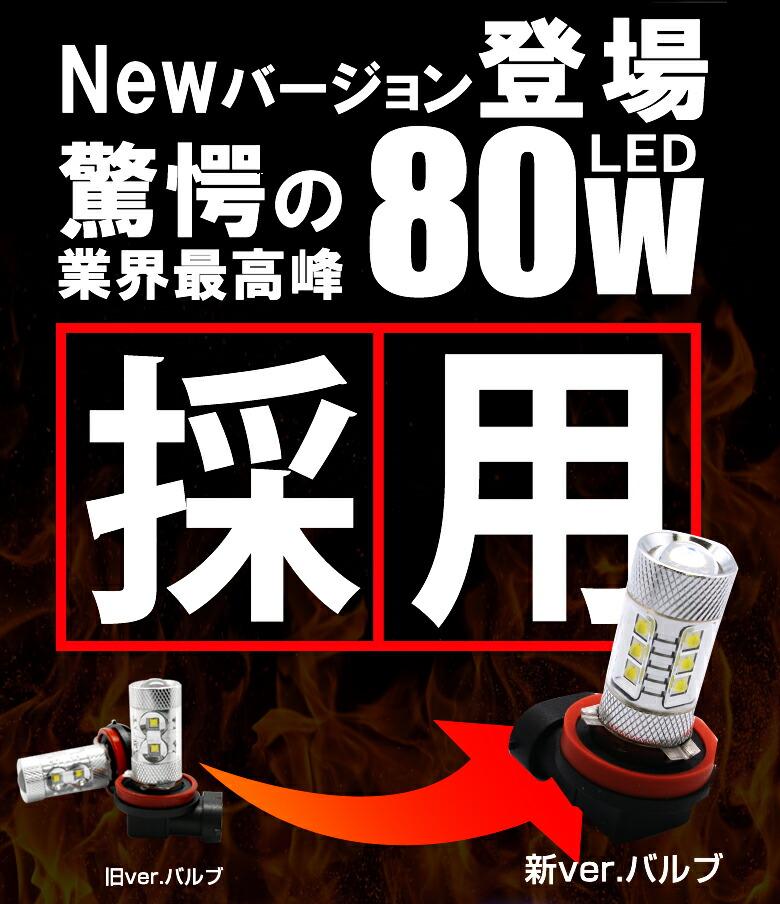 LED H8/H11/H16SMDフォグランプNEWTYPE_新型採用