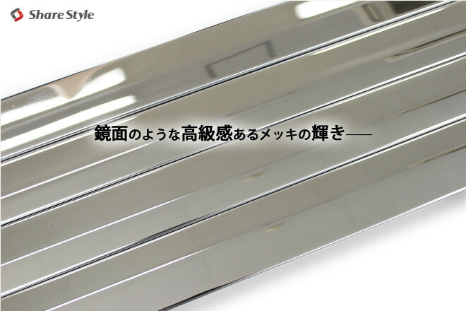 新発売!オシャレ♪ドレスアップの定番 NBOX専用 貼り付け簡単 鏡面サイドメッキガーニッシュ4ピースセット
