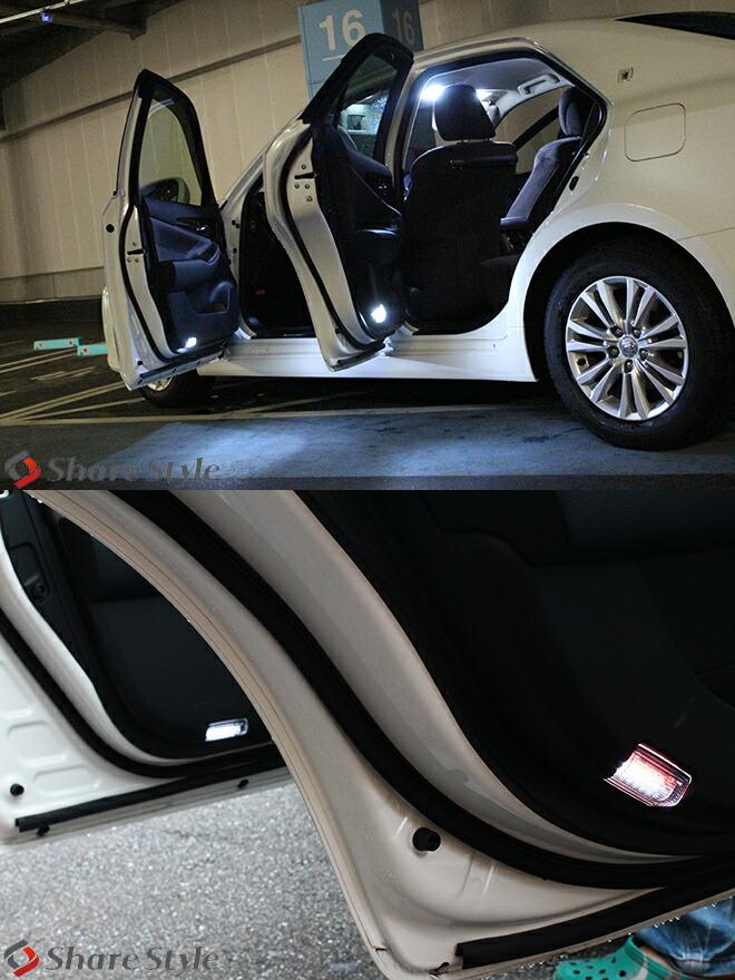 TOYOTA(トヨタ) 車専用 ユニット付きカーテシランプLED18連 2ピースセット/アルファードヴェルファイアエスティマクラウンマジェスタプリウス