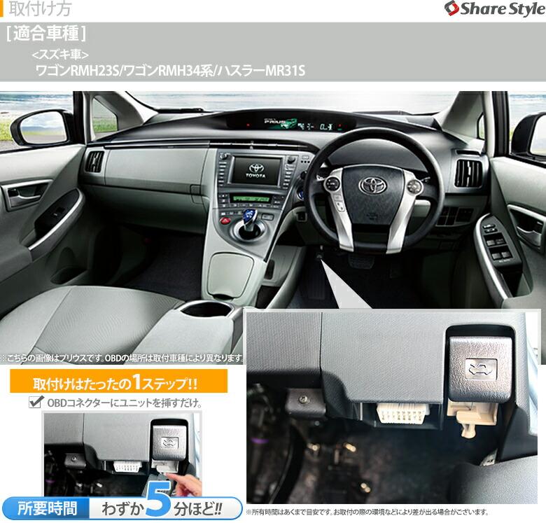 SUZUKI車専用OBDオートドアロックユニット-適合車種