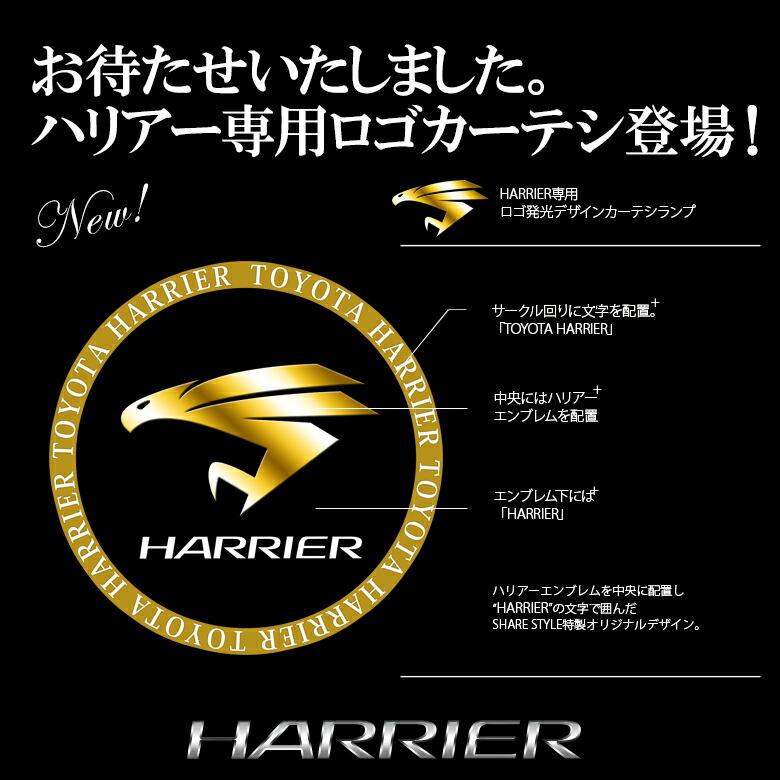 【レビュー記載で送料無料】 TOYOTA ハリアーZSU6#用 ロゴ発光デザインカーテシランプ ユニット付き 取り付け簡単_ロゴ