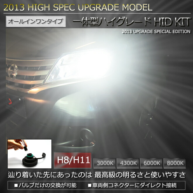 H8,H11 一体型オールインワンタイプHIDキット