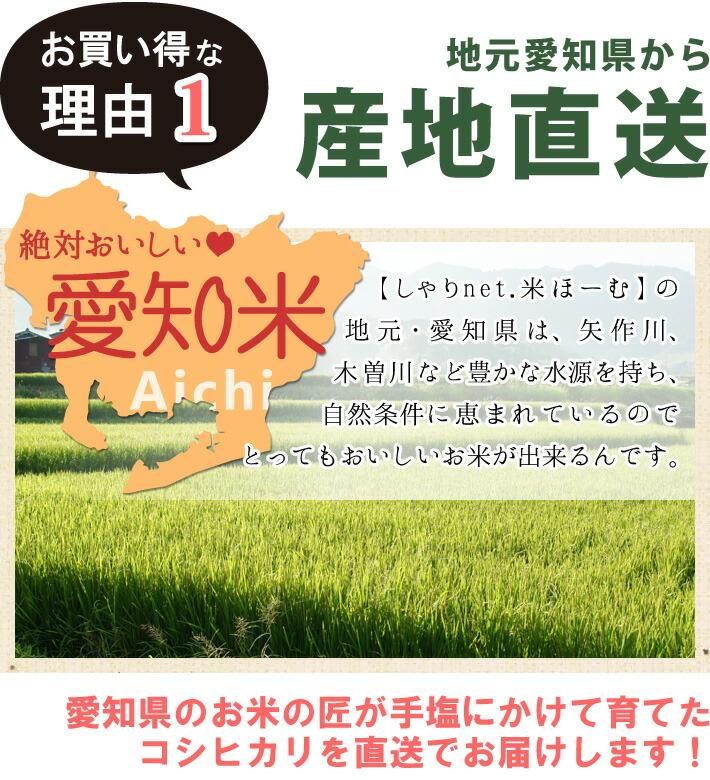お買い得な理由1「愛知県から産  地直送」