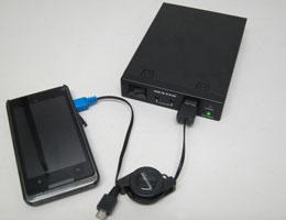 スマートフォン・MP3プレーヤーに充電可能
