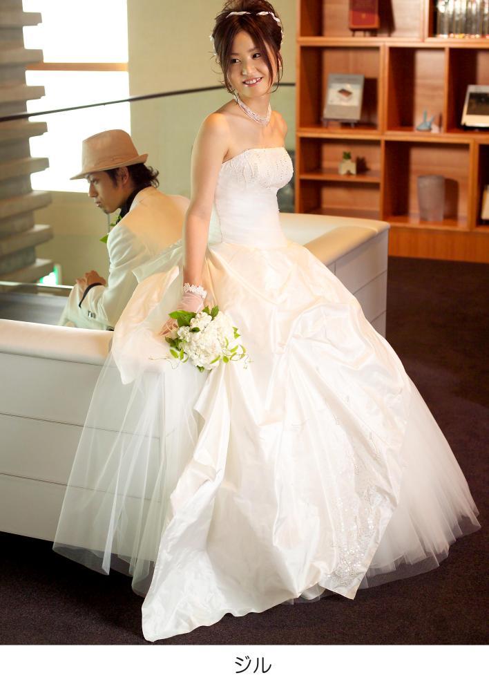 ウェディングドレス 白 ドレス☆ ジル 花嫁 ホワイト 結婚式 ウェディングドレス 白 ドレス ジル 花嫁 ホワイト 結婚式【レンタル】