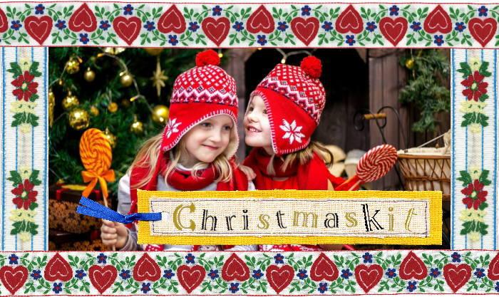 クリスマスデザインのクロスステッチキットコーナー クロスステッチ手芸雑貨シーボンヌ