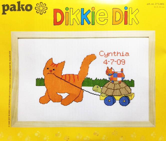 Pako クロスステッチ Dikkie Dik キット ディッキー・ディック 刺しゅう オランダ Artikel nr.272.001