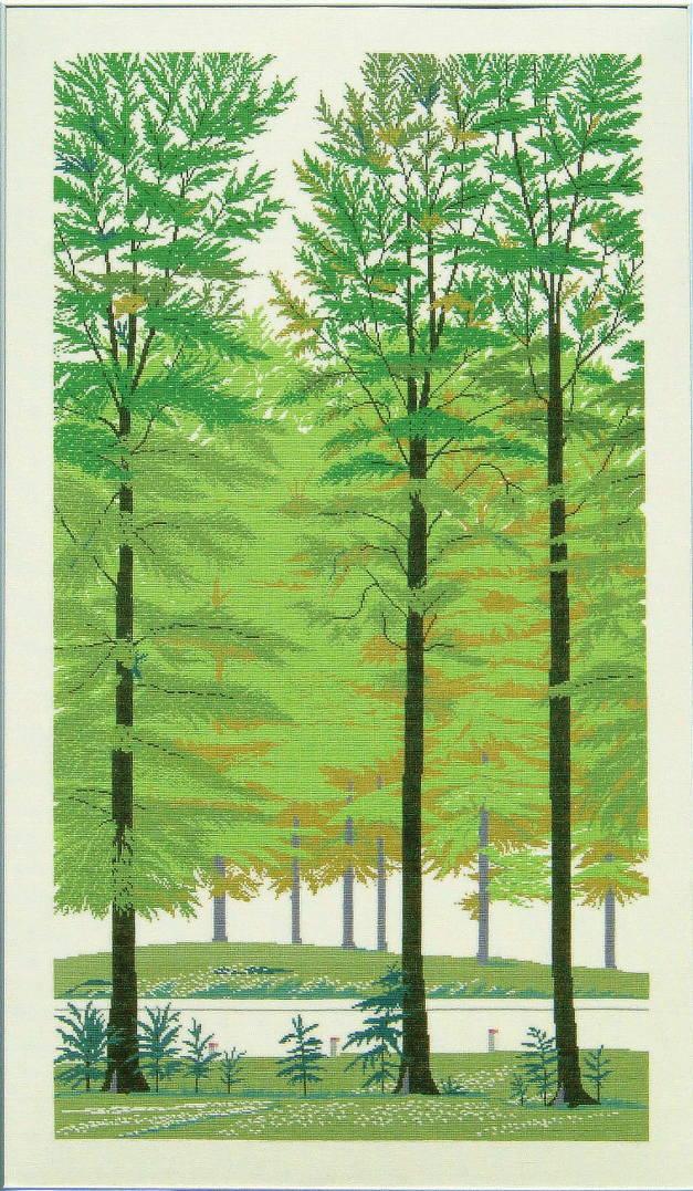 フレメ(Fremme)クロスステッチししゅうキット ブナの森 Beech forest デンマーク 北欧 gerda bengtsson 上級者 30-6282