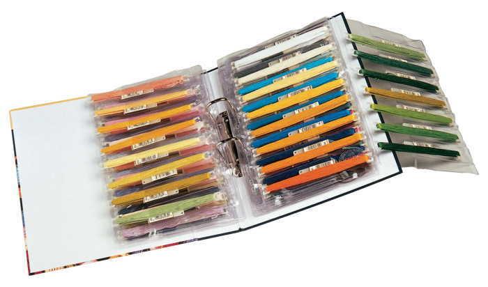 DMC クリアファイル 5枚 ステッチボウを収納できます☆ バインダー用 刺繍 クロスステッチ 刺しゅう用具 収納 用品 フランス U1242-5