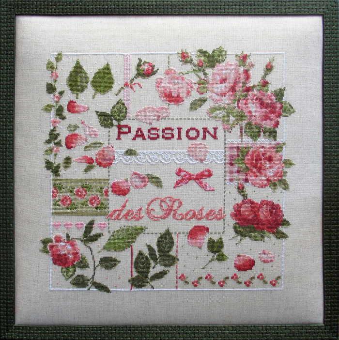 フランス発、Madame La Fee のクロスステッチキットPassion des Rosesの写真