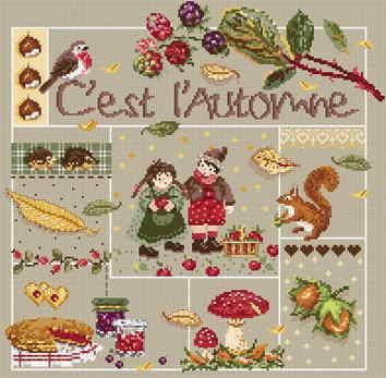 Madame La Fee(マダムラフェ) クロスステッチ刺しゅうキット 【小さな秋み〜つけた!】 輸入 Aida 上級者 フランス 123