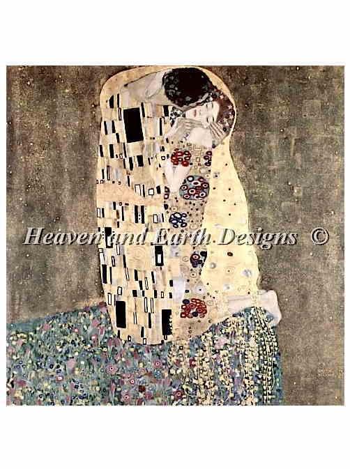 クリムト 接吻 The Kiss-Klimt ししゅう図案 HAED Heaven And Earth Designs クロスステッチ 輸入 上級者 全面刺し クロスステッチ手芸雑貨シーボンヌ 刺繍 専門店 通販 販売 サイト