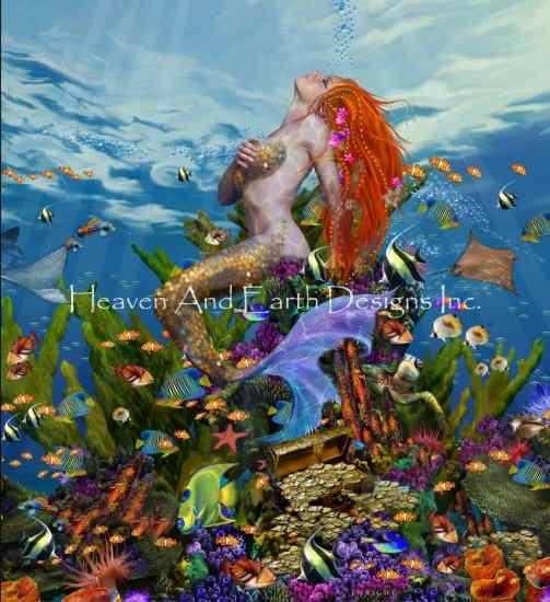 Heaven And Earth Designs クロスステッチ図案 チャート 【マーメイド・リーフ】 Mermaid Reef クロスステッチ手芸雑貨シーボンヌ 刺繍 専門店 通販 販売 サイト