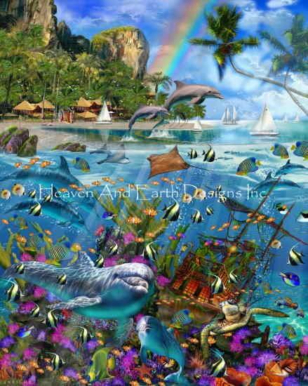 Heaven And Earth Designs クロスステッチ図案 チャート 【トロピカル・トレジャー】 Tropical Treasures クロスステッチ手芸雑貨シーボンヌ 刺繍 専門店 通販 販売 サイト