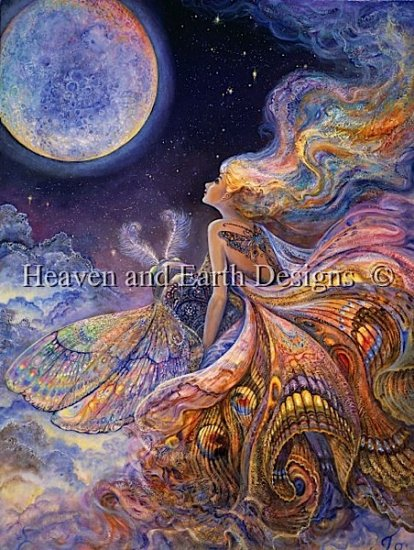 Heaven And Earth Designs(HAED)クロスステッチ刺繍 図案 輸入 Supersized Fly Me To The Moon チャート Michele Sayetta/Josephine Wall 全面刺し 上級者クロスステッチ手芸雑貨シーボンヌ 刺繍 専門店 通販 販売 サイト