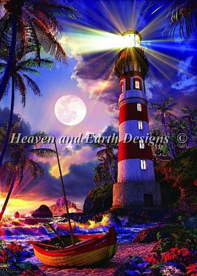 Heaven And Earth Designs(HAED) クロスステッチ刺繍 図案 輸入 灯台の灯り Ray of Light 全面刺し 上級者 クロスステッチ手芸雑貨シーボンヌ 刺繍 専門店 通販 販売 サイト