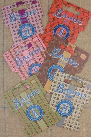 Sajou 糸巻き Cartes de rangement pour rubans et fils - motifs fleuris - Série 2 オーガナイザー サジュー フランス メゾンサジュー CAR_RUB_006_070_090_03