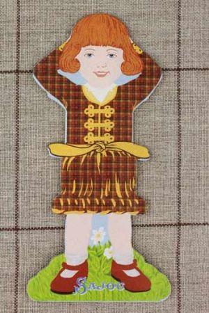 Sajou オーガナイザー Grandes cartes à fil petites filles modèles Famille 2 complète 糸巻き サジュー フランス CAR_CFF_004_FAMILE_02