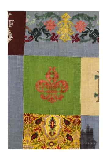 Sajou(サジュー) クロスステッチ・パッチワーク刺しゅうキット 【PLAID À BRODER CHENONCEAU MUSÉES ET PATRIMOINE】 輸入 上級者 KIT_PDC_MUP_CHEN_17 (予約)
