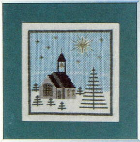 フレメ クロスステッチ刺繍キット Kieke クリスマスの教会 Haandarbejdets Fremme デンマーク 北欧 10B EH 上級者 30-5663