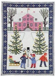 クロスステッチ刺繍キット フレメ Leg i sne 雪の中で遊ぶ Haandarbejdets Fremme デンマーク 北欧 12B GB 上級者 30-4653 クロスステッチ手芸雑貨シーボンヌ デンマーク刺繍 専門店 通販 販売 サイト