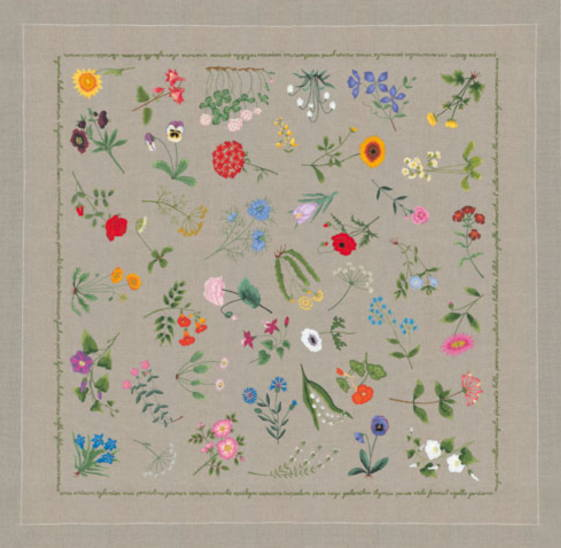 Shibonnu: Tablecloth Kit Embroidery France Satin Stitch