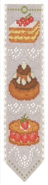クロスステッチ刺繍キット 輸入 ル・ボヌール・デ・ダム Le Bonheur des Dames 刺しゅう Marque page gateaux ケーキのブックマーク フランス 初心者 4578