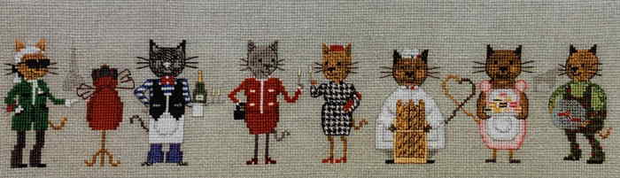 Le Bonheur des Dames クロスステッチ刺繍キット 【パリに生まれ育った猫】 ルボヌールデダム フランス 上級者 輸入 1090 クロスステッチ手芸雑貨シーボンヌ 専門店 通販サイト 販売