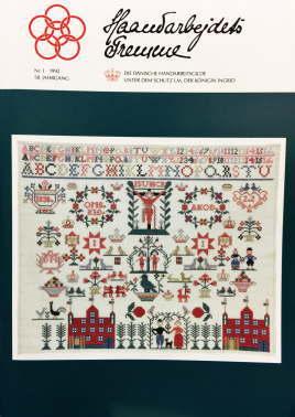 フレメ 会報誌 Nr.1 1992 58.JAHRGANG Haandarbejdets Fremme 刺しゅう Danish Handcrafts Guild デンマーク 北欧 手工芸 ギルド