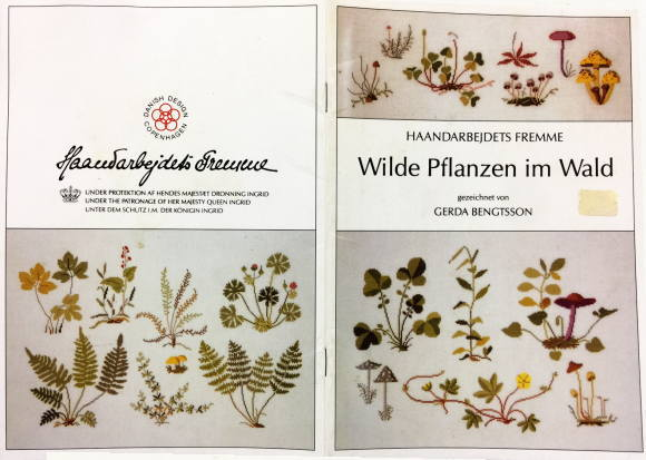 フレメ Wilde Pflanzen im Wald 図案 Haandarbejdets Fremme チャート クロスステッチ デンマーク 北欧 手工芸 ギルド 刺しゅう