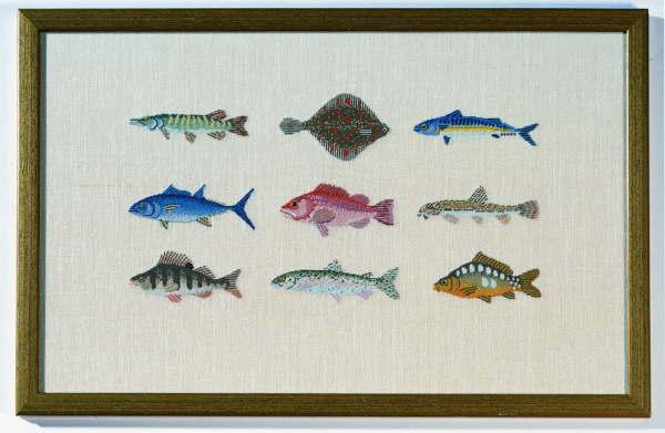 BAHMANN バーマン Fische in Petit Point プチポワンの魚 10B プチポワン キット ドイツ 刺しゅう 30-9007,01