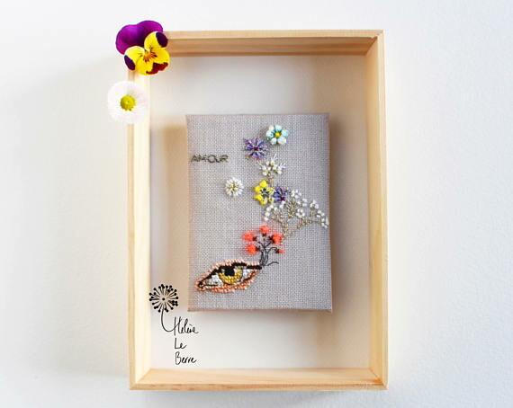 Helene Le Berre 刺しゅう Kit de Broderie IRIS - Embroidery Kit IRIS キット フランス 刺しゅう