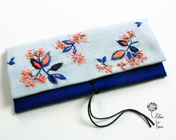 Helene Le Berre 刺しゅう Embroidery Kit Blue MELON - Embroidery Kit Blue MELON キット フランス 刺しゅう