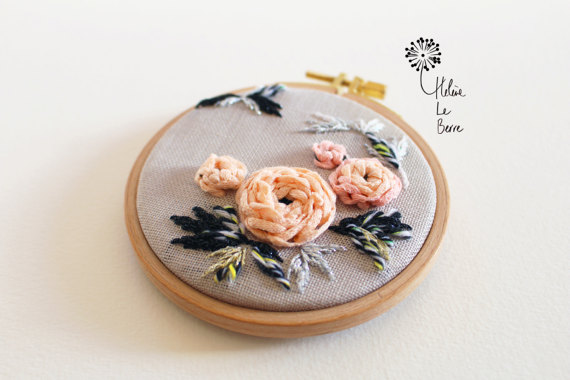 Helene Le Berre 刺しゅう Kit de Broderie RENONCULES - Embroidery Kit RANUNCULUS キット フランス 刺しゅう