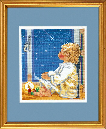 EVA ROSENSTAND 星を見つめる少年 Dreng kigger stjerner クロスステッチ キット デンマーク 北欧 刺しゅう 14-059
