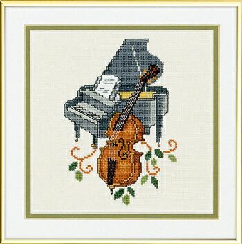 EVA ROSENSTAND グランドピアノとベース Flygel & bas クロスステッチ キット デンマーク 北欧 刺しゅう 14-084