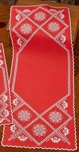 PERMIN ハーダンガー・スノーフレーク Hardanger snowflake 刺繍 キット デンマーク 北欧 刺しゅう ペルミン 75-7635