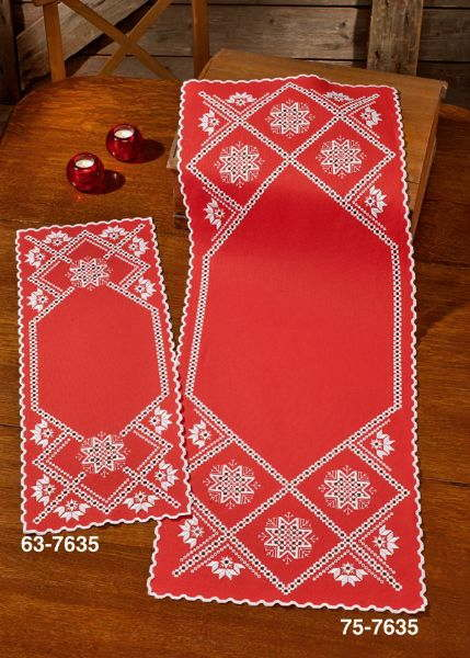 PERMIN ハーダンガー・スノーフレーク Hardanger snowflake 刺繍 キット デンマーク 北欧 刺しゅう ペルミン 63-7635