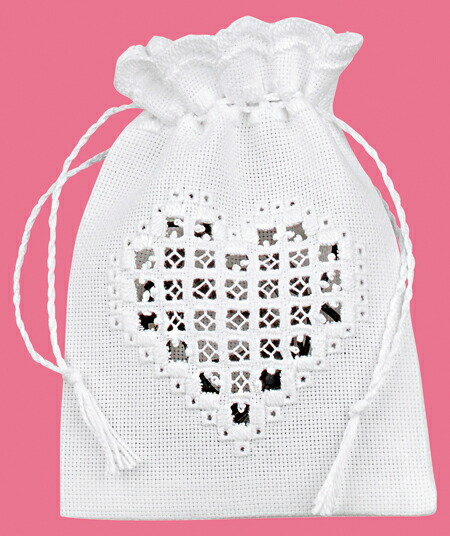 PERMIN ハート・バッグ Bag heart 刺繍 キット デンマーク 北欧 刺しゅう ペルミン 31-7728