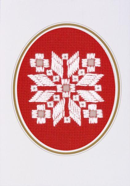 PERMIN クリスマス・ハーダンガー・ショート Christmas Hardanger Short 刺繍 キット デンマーク 北欧 刺しゅう ペルミン 17-6748