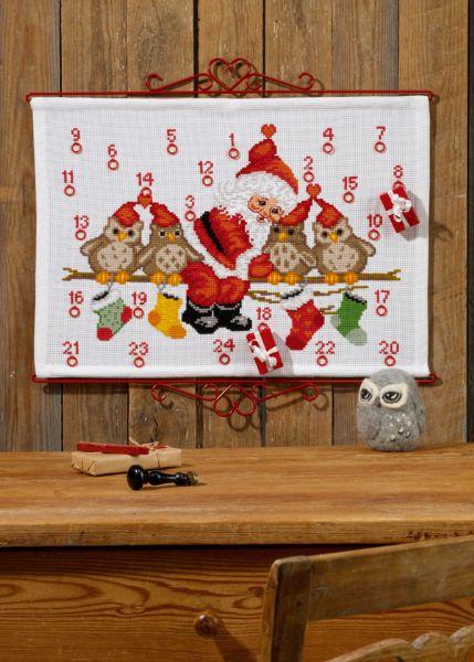 PERMIN 枝のフクロウ The owls on branch ペルミン クロスステッチ キット デンマーク 北欧 刺しゅう 34-7257