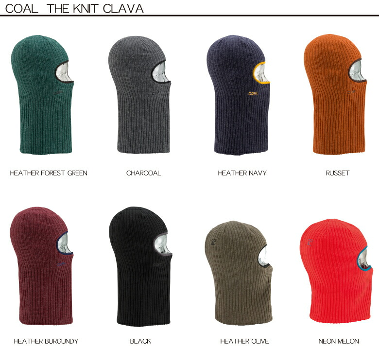 Coal Mens Knit Clava Balaclava